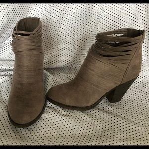 Fergalicious light brown ankle boots